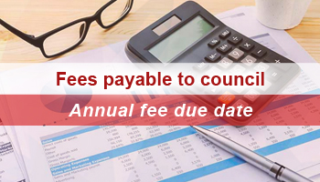 2019 Fees payable to Council