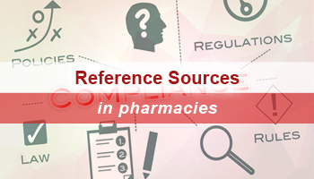 Survey for reference sources that must be accessible in a pharmacy