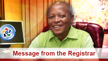 Pharmaciae - SAPC - Message from the Registrar